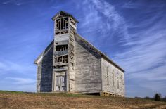 An old church in southern Martin Co. Indiana.