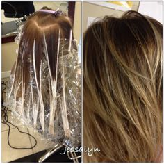 Some hair stylist just dont get how to do this!! Balayage technique bronde