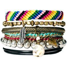 River Island Blogger Friendship Bracelets Pack ($18) ❤ liked on Polyvore