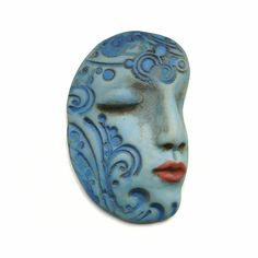 polymer clay art doll face by Graphixoutpost