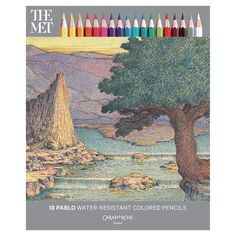 Express yourself with our exclusive set of 18 water-resistant colored pencils. This special set is result of the first-ever partnership between an art museum and Caran d'Ache, the Swiss maker of fine drawing and writing instruments.