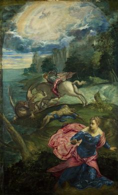 TINTORETTO Saint George and the Dragon c.1555