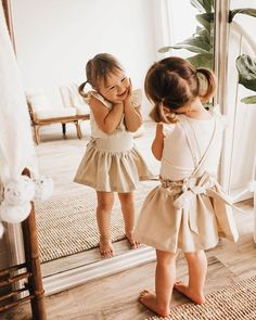 sweetest little gal + sweetest little pinafore from ☺️🌿👌 Kids Outfits Girls, Little Girl Outfits, Cute Outfits For Kids, Little Girl Fashion, Toddler Girl Outfits, Toddler Fashion, Kids Fashion, Little Girl Clothing, Little Girl Style