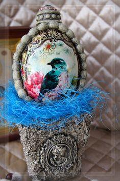 KristyDecoR. Декупаж. Пасхальное яйцо с горшочком. Ручная работа. Decoupage. Easter egg with a pot. Handmade. https://www.facebook.com/KristyDecoupage/