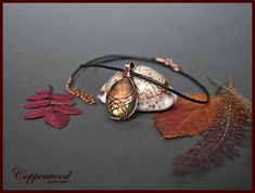 Copper wire wrapped pendant / Labradorite pendant / Wire