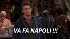 Joey's Tribbiani quote. Friends 4T08E. The One with Chandler in a box.  https://www.quora.com/What-does-Va-fa-Napoli-mean