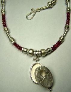tourmalin-necklace and wishbox, handcut silver - Jewelry by Nicole Bolze ORIGINALS