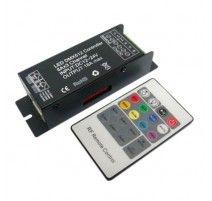 CONTROLADOR RGB CON MANDO 12V/24V DMX