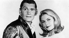 Dick York as DARRIN STEPHENS and Elizabeth Montgomery as SAMANTHA STEPHENS in Bewitched.