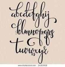 Image result for brush letter alphabet