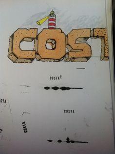 """Caspar`s Blackbook1/2014 """"Costa"""" Copic Ciao Marker + stamps"""