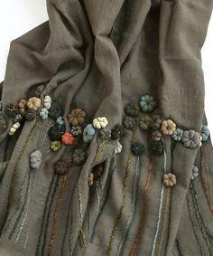 Sophie digard flower applique scarf TIN