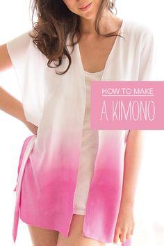 How to make a Kimono   Mollie Makes free sewing pattern