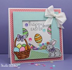 Studio 5380 Sweet Shaker Card made with lots of Lawn Fawn Goodies!