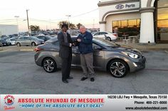 https://flic.kr/p/A4FZcm | Happy Anniversary to Mark  on your #Hyundai #Elantra from Kevin Beasley at Absolute Hyundai! | deliverymaxx.com/DealerReviews.aspx?DealerCode=H248