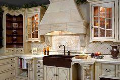 Love the hood and cabinetry. Custom Range Hood 02: Shown here in Riviera Beige
