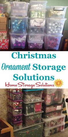 Lots of Christmas ornament storage solutions and ideas, including both DIY and product recommendations, and for fragile, oversized and unusually shaped ornaments on Home Storage Solutions 101 Christmas Ornament Storage, Holiday Storage, Diy Ornament Storage, Attic Rooms, Attic Spaces, Attic Loft, Attic Apartment, Attic Bathroom, Small Spaces