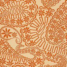 MADELEINE - TERRACOTTA. Image: Calico Corners. #fabric #paisley #tangerine_tango
