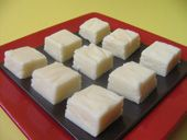 White Chocolate Fudge || This is the only white chocolate fudge recipe you'll ever need! It doesn't require special equipment or extended beating, it always sets up, and it's not too cloyingly sweet. || http://candy.about.com/od/chocolatefudgerecipes/r/whitechoc_fudge.htm