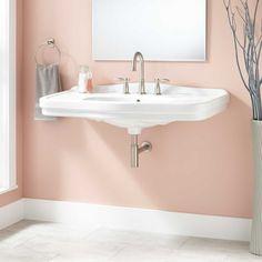 """42"""" Peloso Wall-Mount Bathroom Sink"""