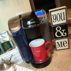 """Little flirtin over coffee! Left this for my hubby! You & Me = Date Night! #flirtin"""