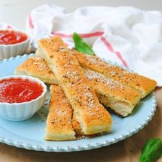 Pizza hut style bread sticks with dipping sauce ~ all homemade ~ enough said!