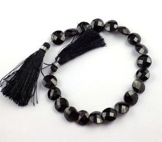 "1 Strand Black Spinel Faceted Round 11-12mm, 10-11mm,8-9mm Gemstone 8"" Long  #raagarw"