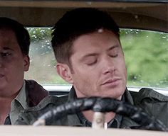 I can name a very specific couple of people that the guy in the back seat reminded me of, and my reaction is *identical* to Dean's when these people talk.