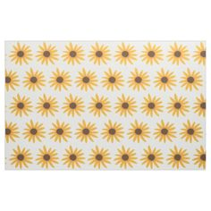 Painting Yellow Sunflowers Custom Fabric. To choose a different color background, click on Customize It, on the product page.