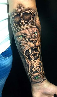 150 Lion Tattoos For Men And Women - Top Tattoos Half Sleeve Tattoos Forearm, Tiger Tattoo Sleeve, Unique Half Sleeve Tattoos, Tribal Forearm Tattoos, Lion Head Tattoos, Forarm Tattoos, Best Sleeve Tattoos, Top Tattoos, Lion Tattoo