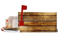 U.S. Mailbox 'Wooden Boards'. €99.99, via Etsy.