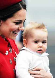 Prince George stole the show at Wellington Airport when he and his parents, Kate Middleton and Prince William, arrived in New Zealand for th...