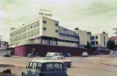 Hospital São Lucas. Curitiba - pr. Década de 1960. Hospital São Lucas, Carpe Diem, Beetle, Brazil, Volkswagen, Nostalgia, Street View, Vintage Posters, Past