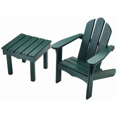Child's Adirondack Side Table And Chair Set