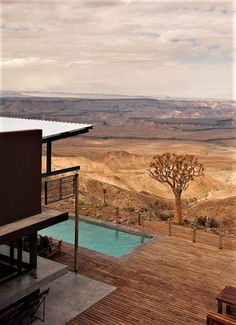 This lodge overlooking the Fish River Canyon in Namibia has to be on your bucket list! #desert