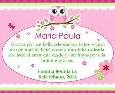 Agradecimiento Baby Shower By Laura Quesada