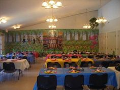 DIY set-up for a luau party