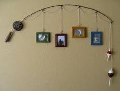 fishing rod hanging wall photos - Google Search