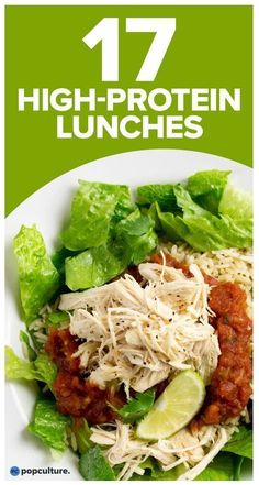 Stay full through to dinner with these nutritious, high protein lunch recipes that are easy to prep and will help with your weight loss efforts. Check out: High-Protein Lunches To Help Nix Your Afternoon Hunger Pangs. Clean Eating Snacks, Healthy Snacks, Healthy Eating, Healthy Recipes, Diet Recipes, Smoothie Recipes, Vegetarian Recipes, Ketogenic Recipes, Cooking Recipes