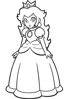 Free Princess Peach Coloring Pages For Kids   Video Game ...   free coloring pages princess peach