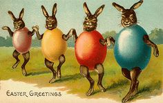 Sort-of-creepy vintage Easter postcard.   For cards, scrapbooking, printing & framing, gift tags, altered art, decoupage, etc