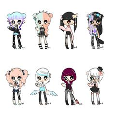 Pastel goth feels are really big crickey. I think like, a couple of them really don't count as pastel goths but nehhhh. I hope you guys like them at least a lil' bit uvu Numbering [from left to rig. Pastel Goth Art, Pastel Goth Fashion, Harajuku, Visual Kei, Anime Chibi, Anime Art, Kawaii Chibi, Gothic Kunst, Kawaii Potato
