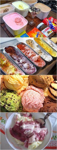Sorvete com 3 Ingredientes…Maravilhoso!! VEJA AQUI>>>Bata o leite condensado no liquidificador por aproximadamente 2 minutos. Ele vai mudar a consistência e ficar mais cremoso. Reserve. Bata o creme de leite fresco na batedeira até virar chantilly. #receita#bolo#torta#doce#sobremesa#aniversario#pudim#mousse#pave#Cheesecake#hocolate#confeitaria