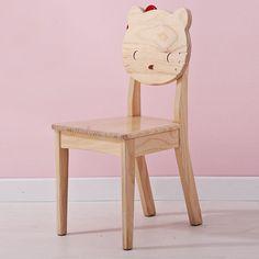 Деревянный детский стул со спинкой хеллоу китти