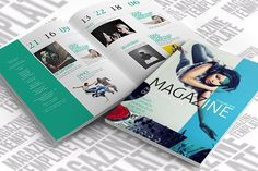 Indesign Magazine Template by scilaverna on @creativemarket