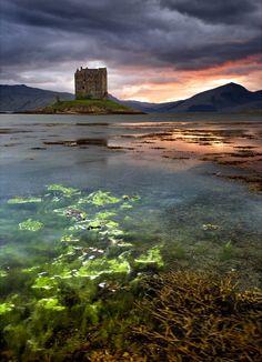 Castle Stalker, Scotland..What a gorgeous shot..