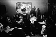 Gregory Corso reads poetry at Seven Arts Cafe. by Burt Glinn, 1959