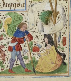 «+Chroniques+sire+JEHAN+FROISSART+».+Français+2643+Source:+gallica.bnf.fr+Bibliothèque+nationale+de+France,+Département+des+manuscrits,+Français+2643,+fol.+18r.+These+marginal+characters+strike+the+same+poses+as+Adam+and+Eve+in+their+post-lapserian+endeavors+of+spinning+and+tilling.