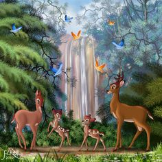 deviant art bambi | BAMBI AND HIS FAMILY by *FERNL on deviantART