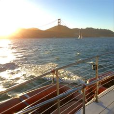 June 2014: the Golden Gate Bridge at sunset from a catamaran on the Bay. I heart SF. photo by Domini Dragoone